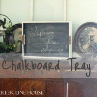 You can make a chalkboard out of pretty much anything!