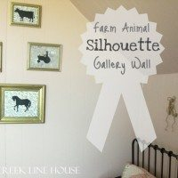 Farm Animal Silhouette Gallery Wall