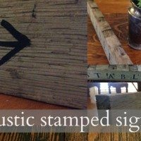 Stamped Rustic Horsey Sign