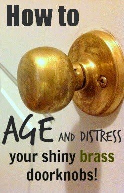 How To Age Brass The Creek Line House