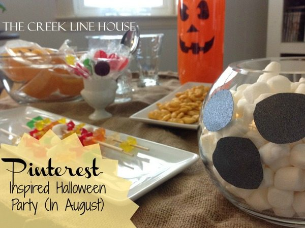 A Pinterest Inspired Halloween Party... in August | The Creek Line ...