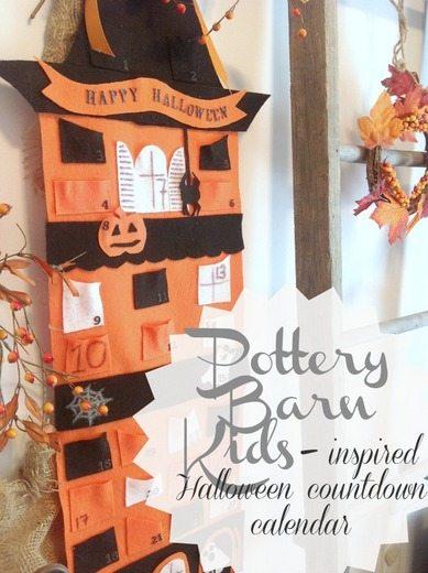 pottery barn kids inspired halloween countdown calendar - Halloween Barn