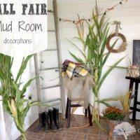 A Fall Fair Themed Mud Room