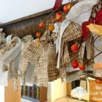 DIY Fall Decor Garland: It's like a rag wreath, but it's a garland! Sort of…