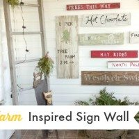 A Tree Farm Inspired Sign Wall