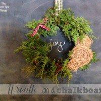 A Wreath on a Chalkboard