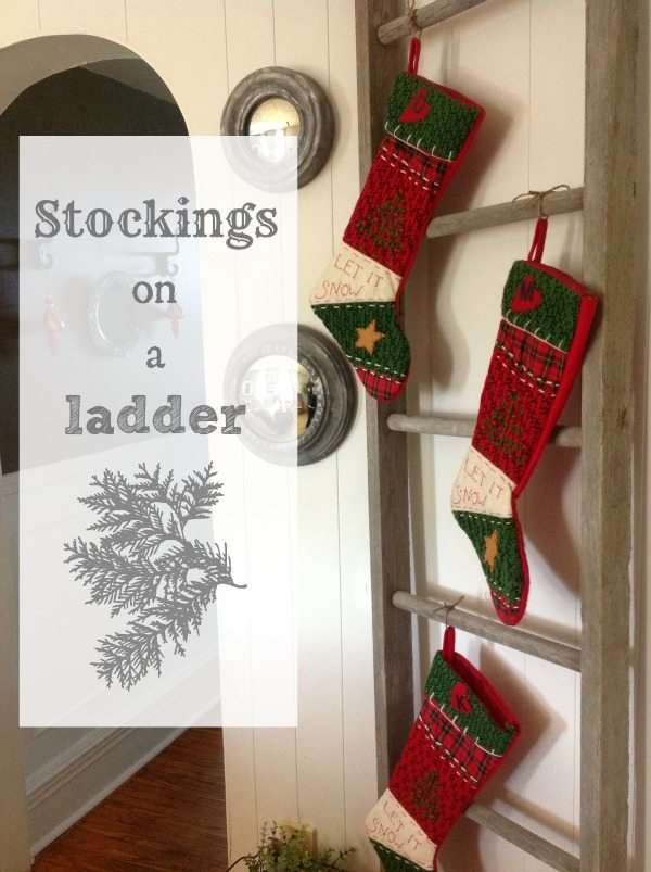 Stockings on a ladder the creek line house