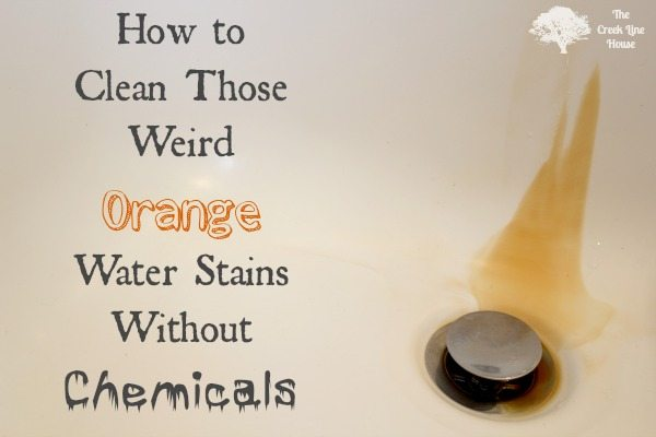 How to clean orange water stains the creek line house How to clean bathtub