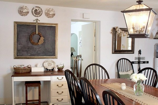 Farmhouse lighting in the kitchen the creek line house for Diy dining room lighting ideas