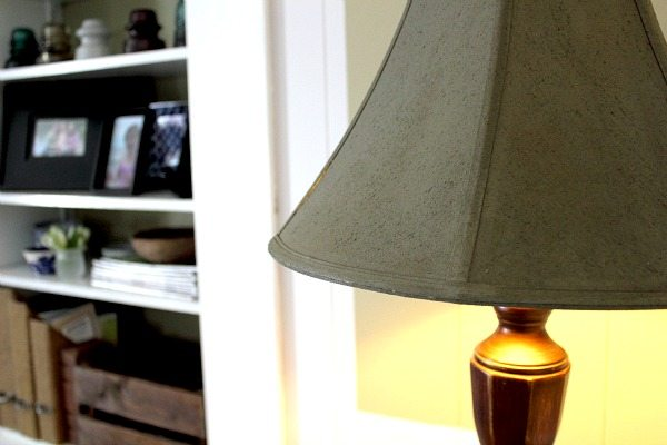 How to paint a lampshade the creek line house i absolutely love this lamp in the corner of our room now it focusses the light perfectly and the dark shade really classes things up quite a bit aloadofball Gallery