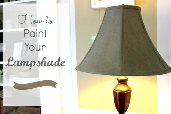 how to paint a lampshade the creek line house. Black Bedroom Furniture Sets. Home Design Ideas