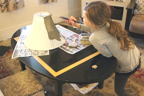 How To Paint A Lampshade The Creek Line House