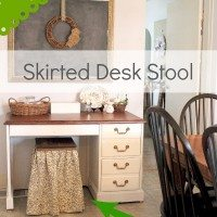 DIY Skirted Desk Stool