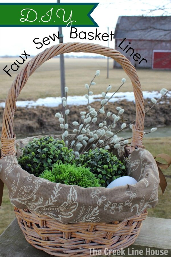 DIY faux sew Easter basket liner! Now this I could actually do!