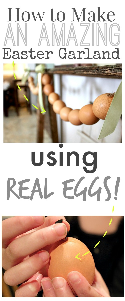 How to make a beautiful garland for your Easter decor using real eggs!