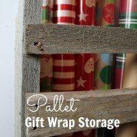 Pallet Gift Wrap Storage