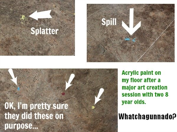 How to remove dried paint from your floors, walls, or furniture after you've had a paint spill or splatter!