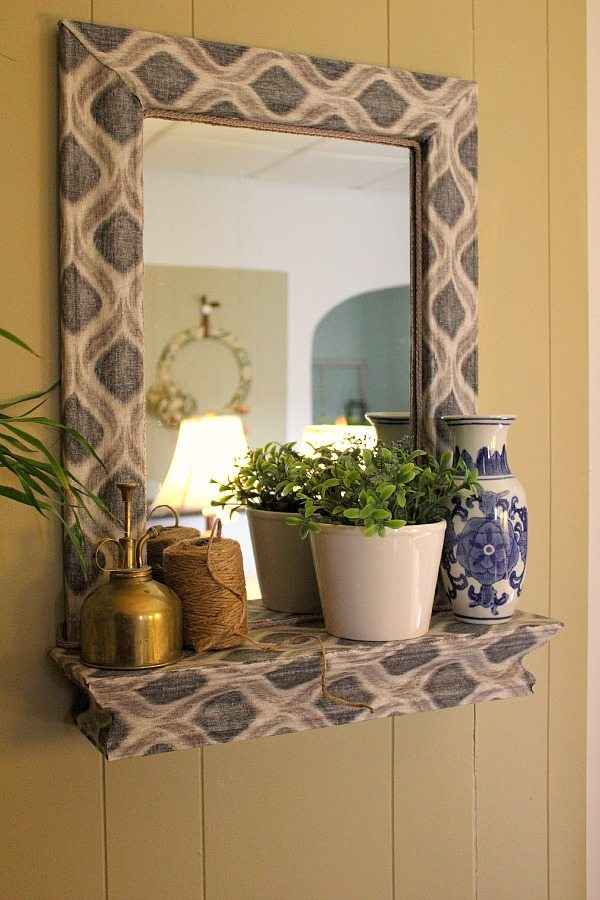 Fabric Mod Podged Mirror Makeover A Diy Challenge From Wayfair And