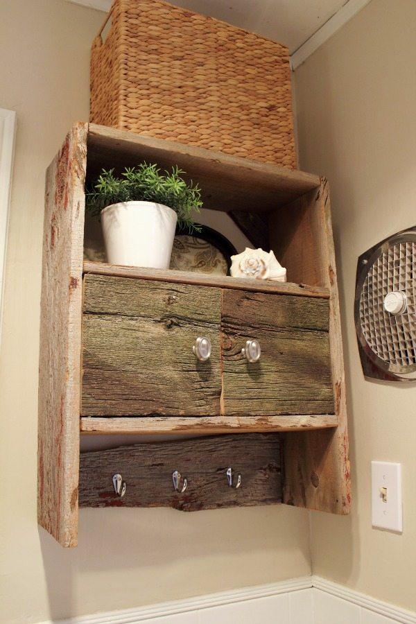 diy barnwood bathroom cabinet the creek line house. Black Bedroom Furniture Sets. Home Design Ideas