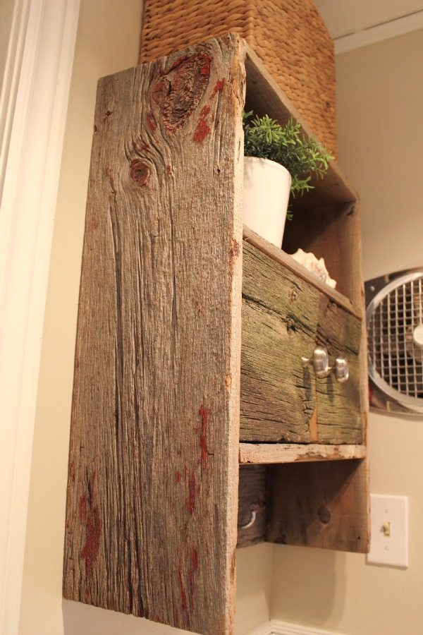 Diy Barnwood Bathroom Cabinet The Creek Line House