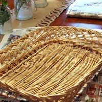How to paint any basket to look like an antique find. (And my own basket wall reveal!)