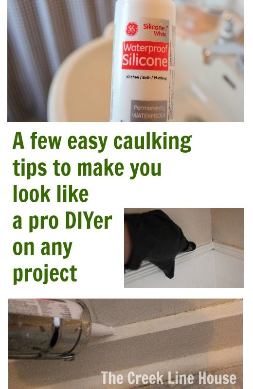 A few caulking tips that I discovered through trial and