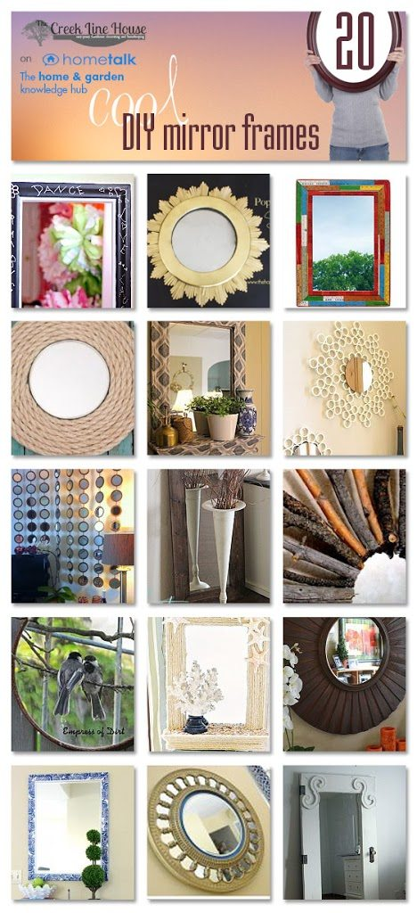 20 diy mirror frames ideas the creek line house for Diy poster frame ideas