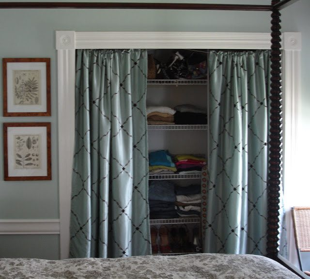 Curtains In Place Of Closet Doors Sliding Closet Doors