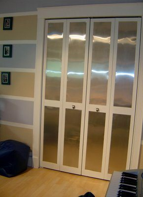 aluminum flasing closet doors from style this flashing sure is flashy