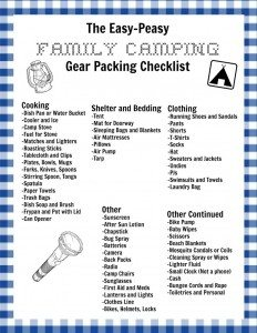 my easy peasy family camping checklist and a free printable version