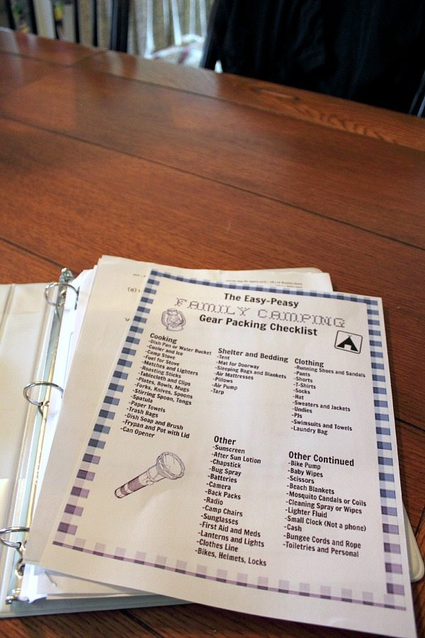 My Easy Peasy Family Camping Checklist And A Free Printable Version For You