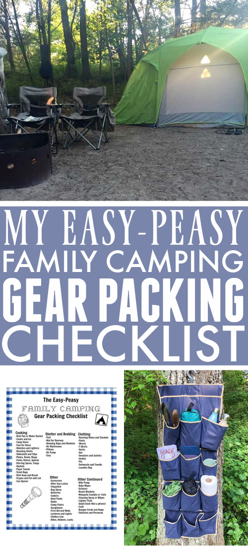 Use this free printable family camping checklist to guide your when you're packing up for your next - or your first - camping adventure with the family!