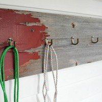 Easy DIY Barnwood Hook Board (that anyone can make!)