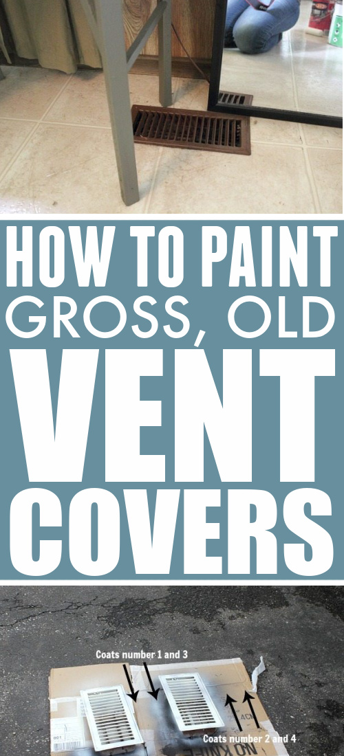 In today's post I'll show you how to paint vent covers around your house to make them look as good as new!