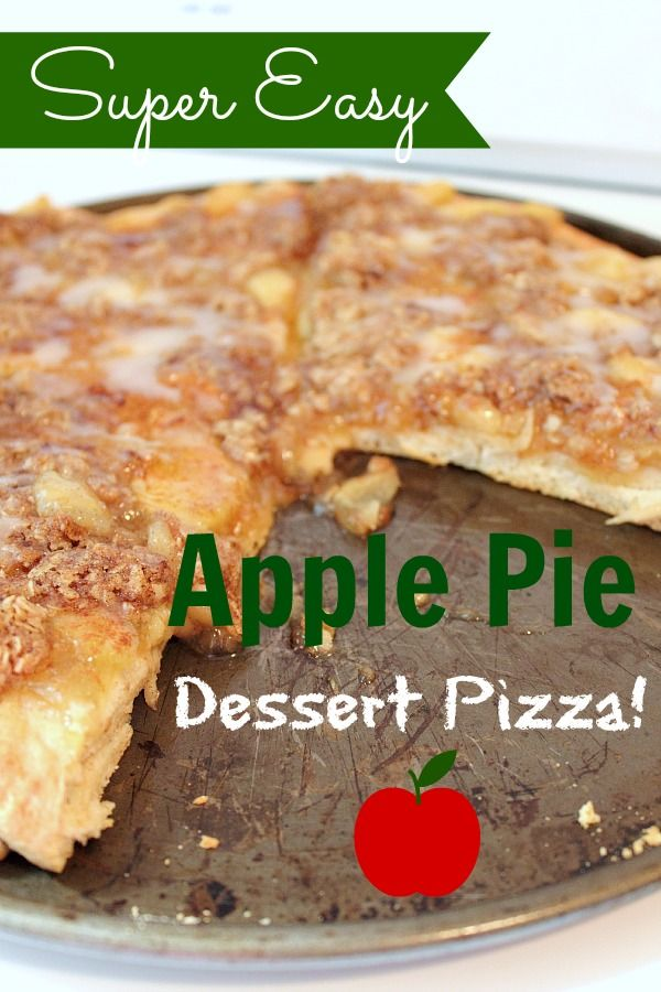This quick 'n easy apple dessert pizza will be a big hit at any friends and family function this fall. Or just whip one up for quick family snack!