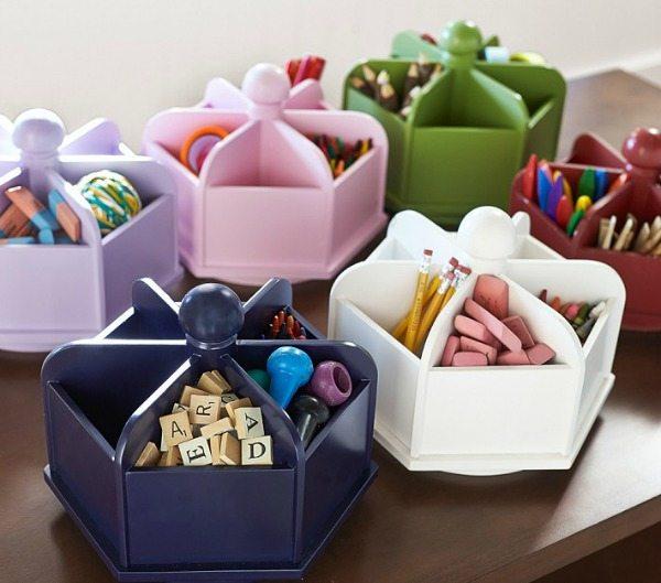 Pottery Barn Kids Jordan Creek Closing: Upcycled Homework Station Organizer For Back To School