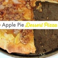 Super Easy Apple Dessert Pizza!