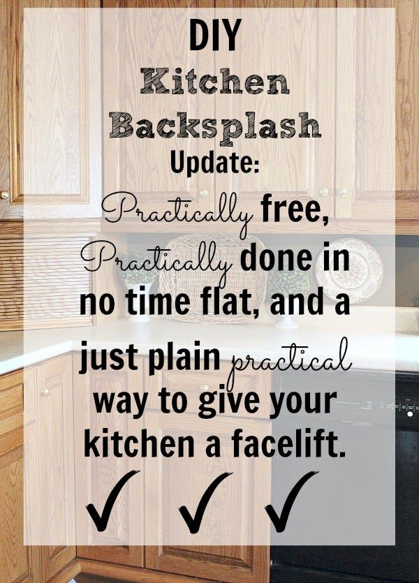 DIY Kitchen Backsplash. It doesn\'t get any easier than this ...