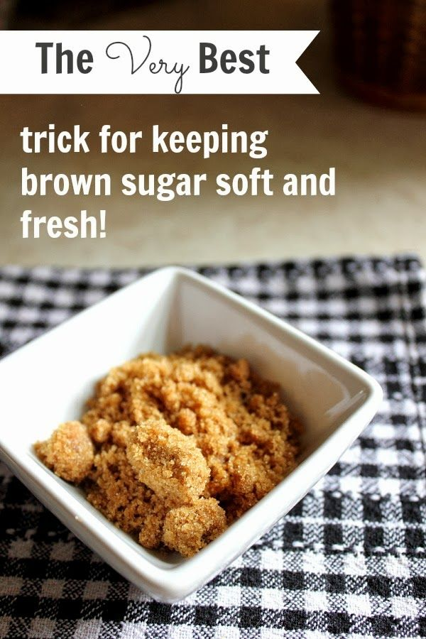 How to keep your brown sugar soft and usable for a good long time! This one really works!