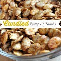 Candied Pumpkin Spice Pumpkin Seeds