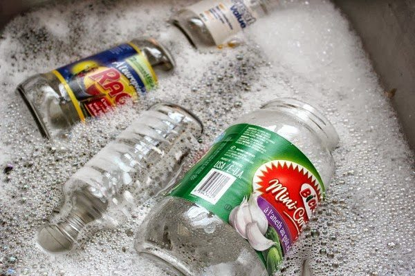 Soak in soapy water.