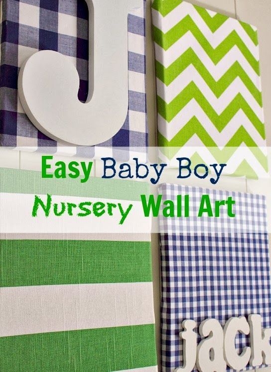 A simple wall art project perfect for a nursery or a kidu0027s room. & Our baby boy has a name!...And the nursery has some wall art! | The ...