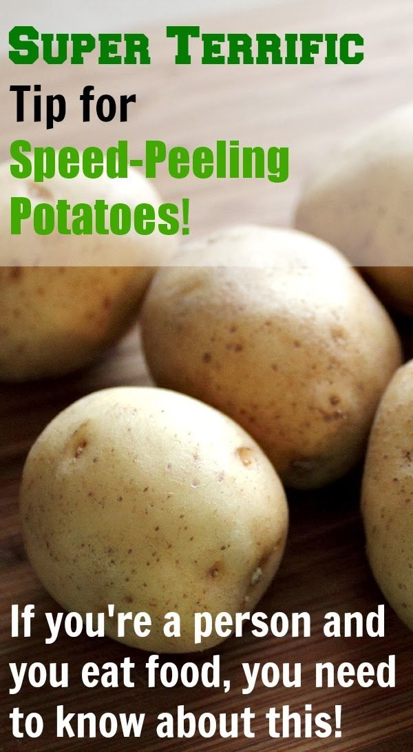 Learn how to peel your potatoes in 2 seconds flat! Fun tip!