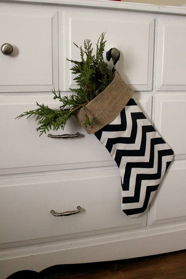 Super easy DIY Christmas stockings.