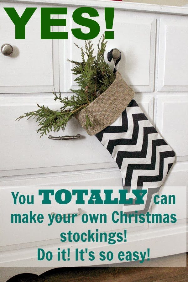 Diy christmas stockings the creek line house for What craft should i do