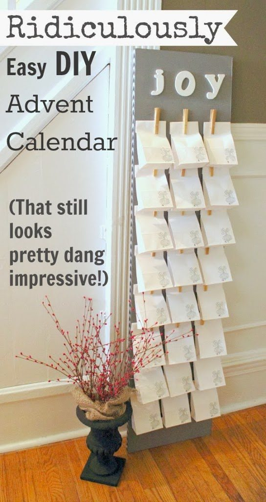 Advent Calendar Diy Ideas : Ridiculously easy diy advent calendar the creek line house