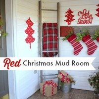 My Festive Red Christmas Mud Room