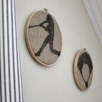 Easy Embroidery Hoop Wall Art for the Baseball-Themed Nursery
