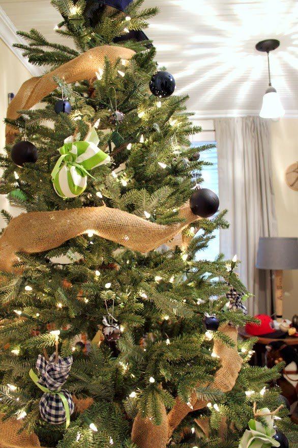 A boyish Christmas tree Perfect for a