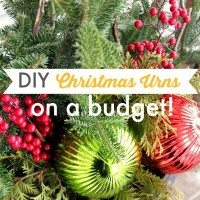 DIY Christmas Urns on a Budget